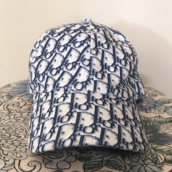 Dior Accessories - Christian Dior monogram blue white vintage hat edd3474ccdc